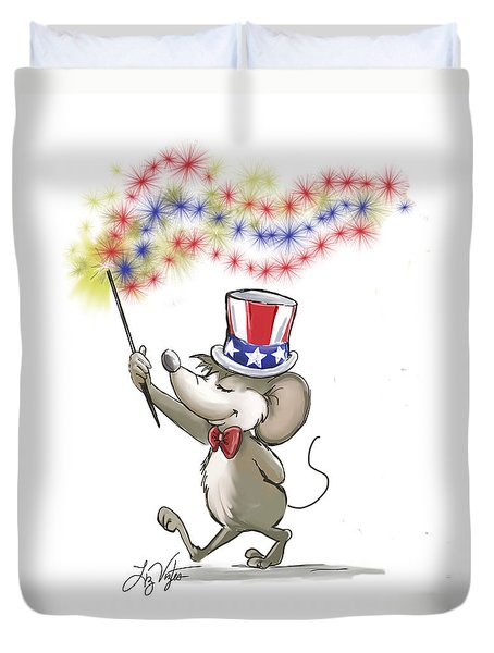 Moe's Happy 4th Of July Duvet Cover