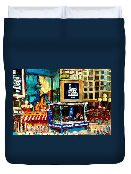 Montreal International Jazz Festival Duvet Cover