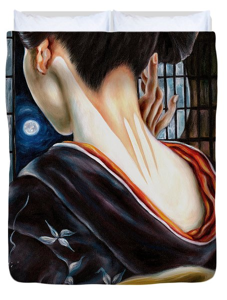 Moon Duvet Cover by Hiroko Sakai