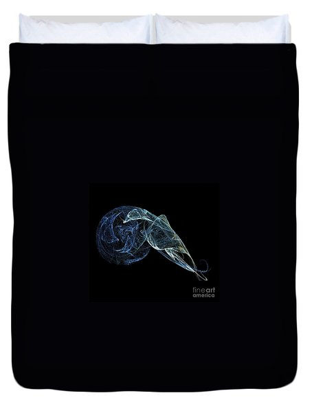 Duvet Cover featuring the digital art Moonlit Goose by Sara  Raber