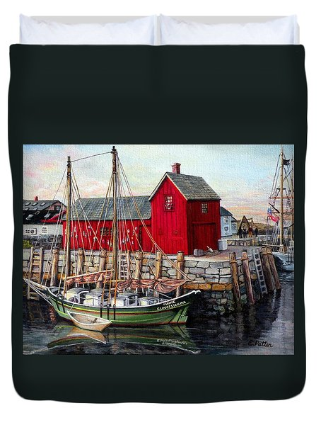 Motif  Number One Duvet Cover by Eileen Patten Oliver