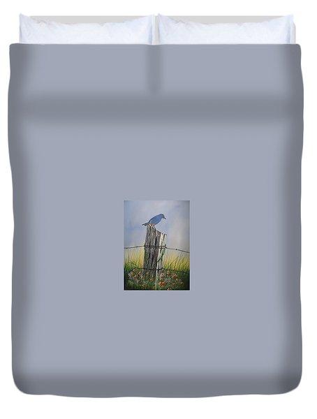 Mountain Bluebird Duvet Cover