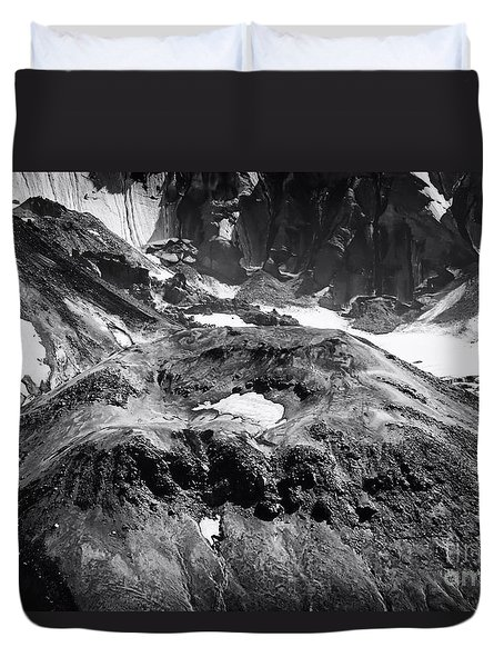 Duvet Cover featuring the photograph Mt St. Helen's Crater by David Millenheft