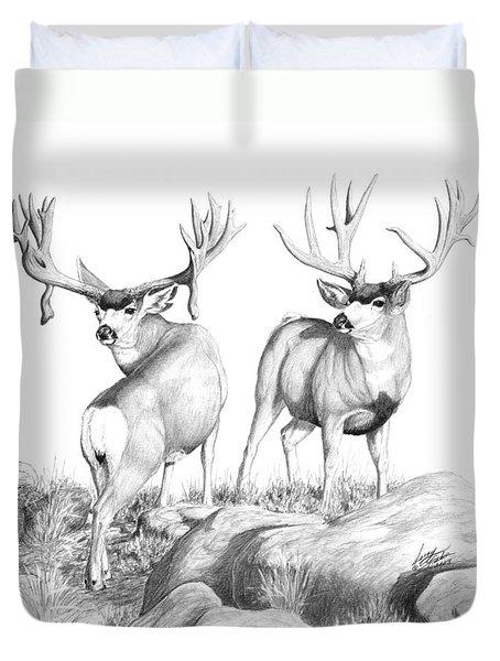 2 Muley Bucks Duvet Cover