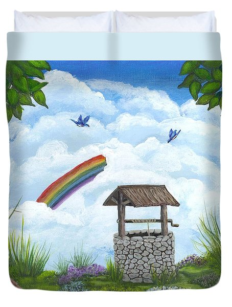 My Wishing Place Duvet Cover by Sheri Keith