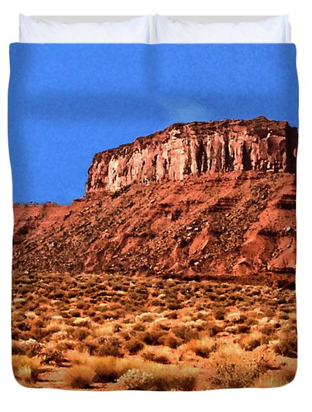 Duvet Cover featuring the painting National Navajo Tribal Park by Bob and Nadine Johnston
