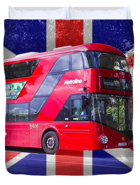 New London Red Bus Duvet Cover