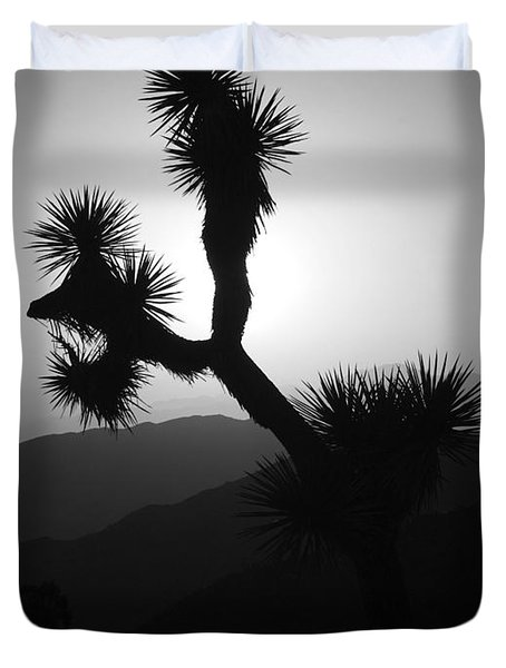 New Photographic Art Print For Sale Joshua Tree At Sunset Black And White Duvet Cover