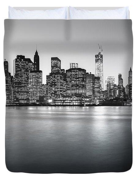New York City Skyline Duvet Cover by Vivienne Gucwa