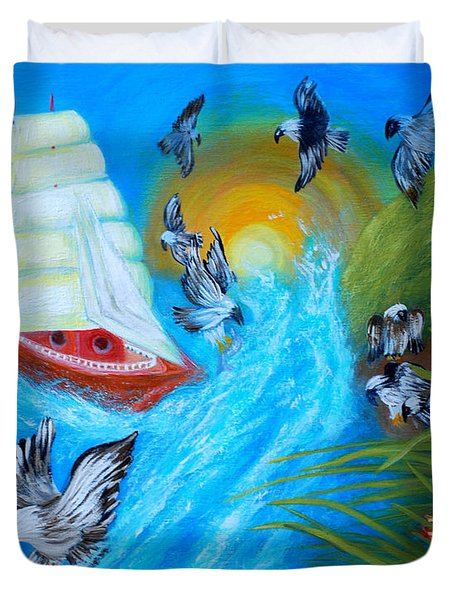 Nine Eagles For Success. Soul Collection Duvet Cover