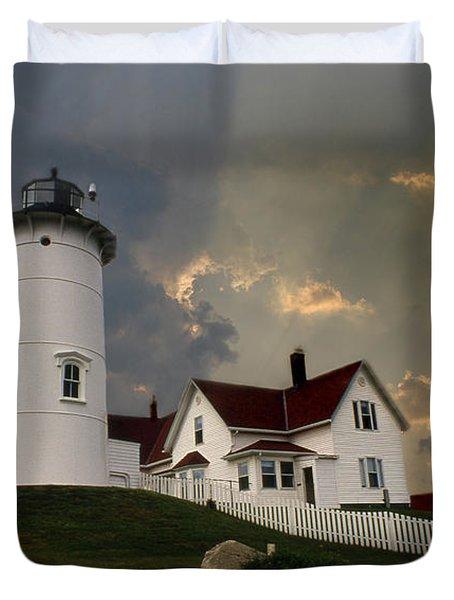 Nobska Lighthouse Color  Duvet Cover
