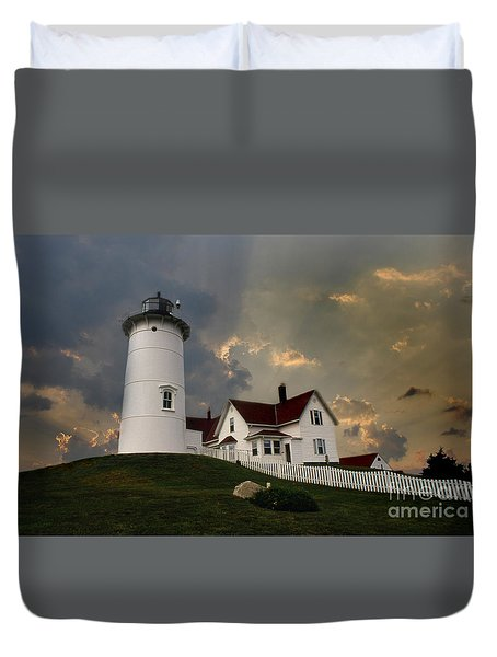 Nobska Lighthouse Color  Duvet Cover