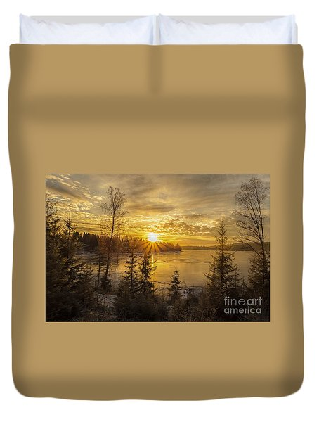 Duvet Cover featuring the photograph Norway by Rose-Maries Pictures