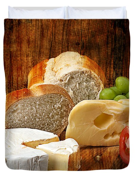 Norwegian Jarlsberg And Camembert Duvet Cover