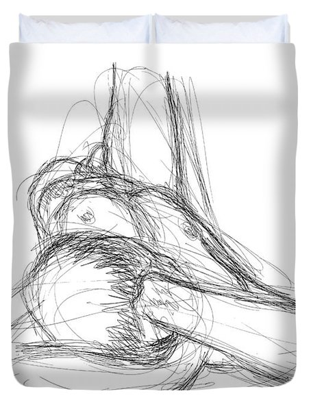Nude Male Sketches 2 Duvet Cover