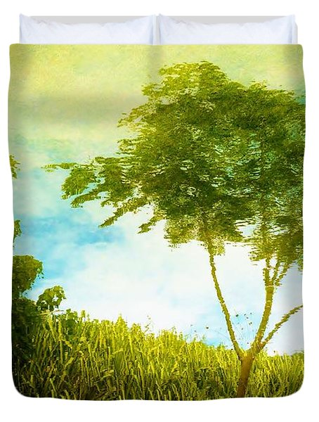 Ode To Monet Duvet Cover by Amar Sheow