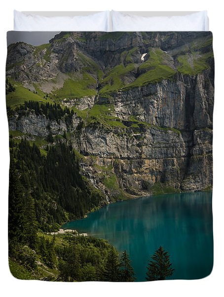 Oeschinensee - Swiss Alps - Switzerland Duvet Cover