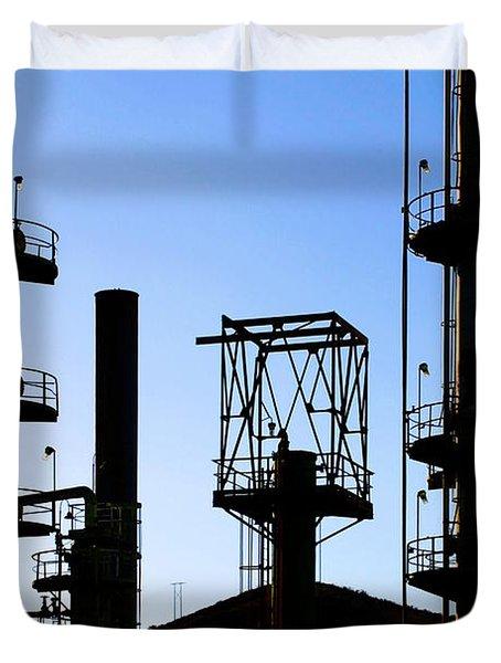 Oil Refinery Duvet Cover by Henrik Lehnerer