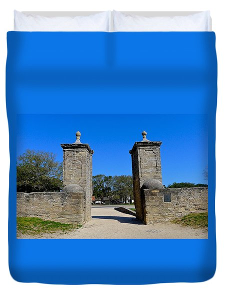 Old City Gates Of St. Augustine Duvet Cover
