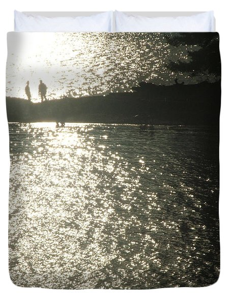 2 At The Beach Duvet Cover by Mark Alan Perry