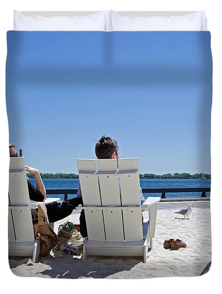 Duvet Cover featuring the photograph On The Waterfront by Keith Armstrong