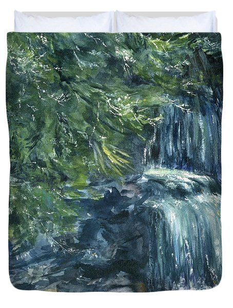 Oregon Waterfall Duvet Cover