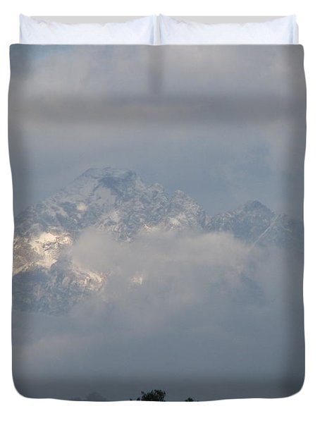 Out Of The Clouds Duvet Cover by Greg Patzer