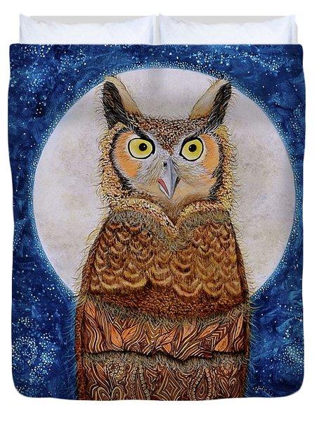 Paisley Moon Duvet Cover by Deborha Kerr