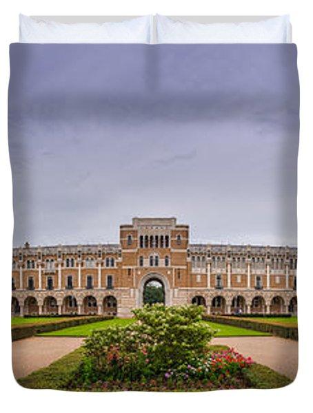 Panorama Of Rice University Academic Quad - Houston Texas Duvet Cover