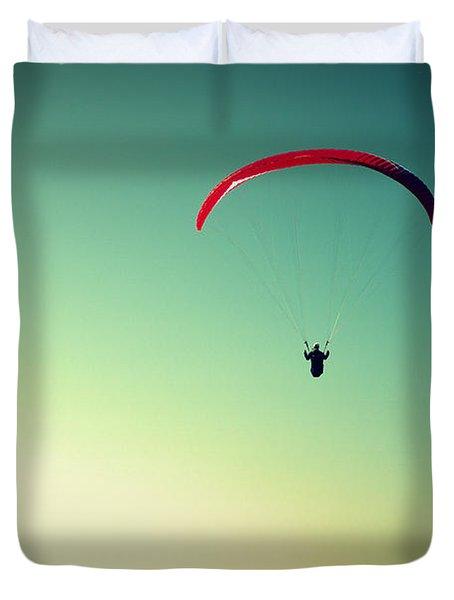Paraglider Duvet Cover