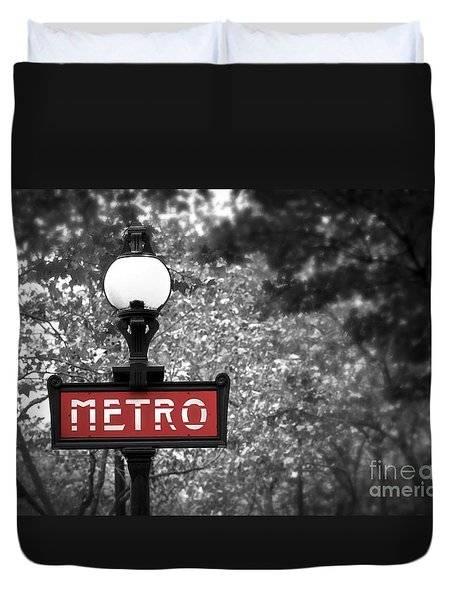 Paris Metro Duvet Cover