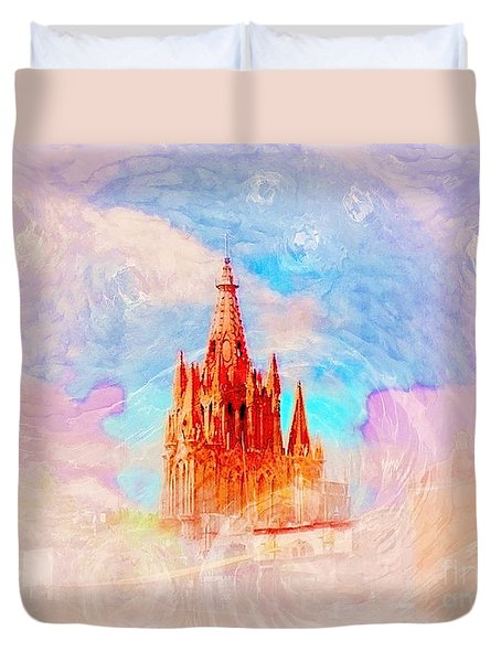 Duvet Cover featuring the photograph Parish Of St. Michael The Archangel by John  Kolenberg