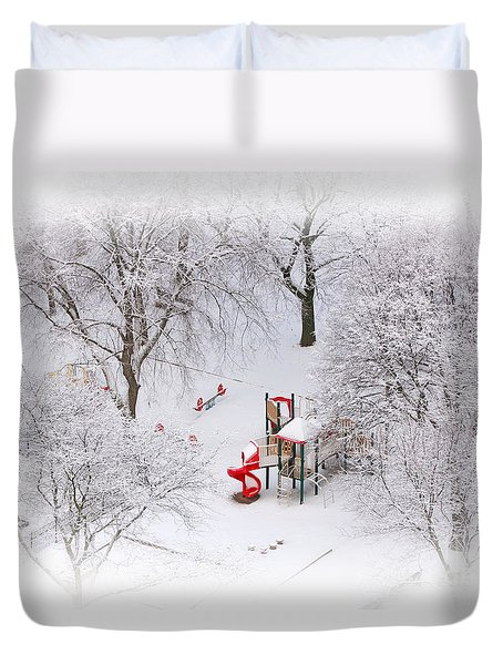 Duvet Cover featuring the photograph Peace On Earth by Charline Xia