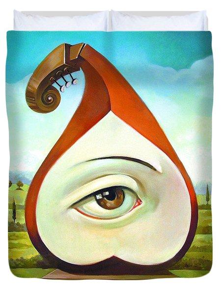 Musical Pear Duvet Cover