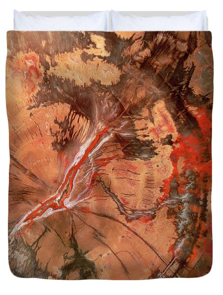 Petrified Wood Detail Duvet Cover