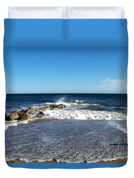 Duvet Cover featuring the photograph Plum Island Landscape by Eunice Miller