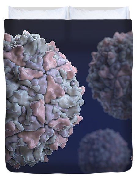 Poliovirus Duvet Cover