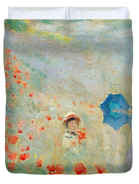 Poppies At Argenteuil Duvet Cover