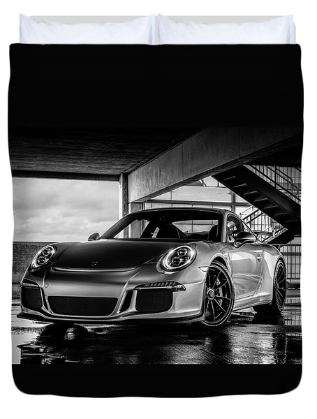 Porsche 911 Gt3 Duvet Cover by Douglas Pittman