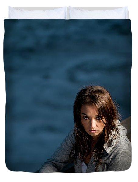 Portrait Of A Young Woman Endurance Duvet Cover