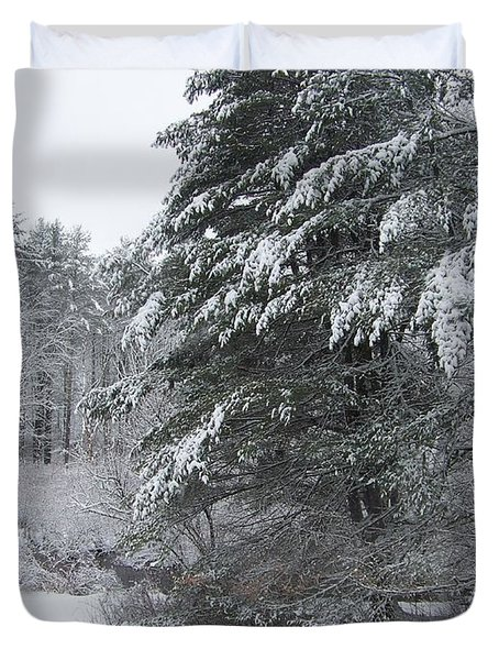 Duvet Cover featuring the photograph Powdered Sugar by Eunice Miller