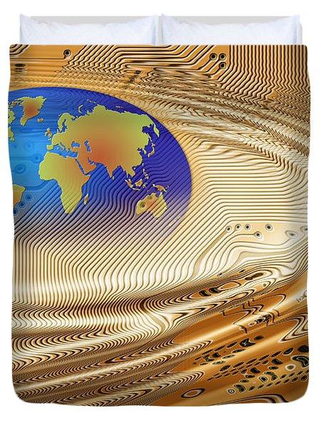Printed Circuit Duvet Cover by Michal Boubin
