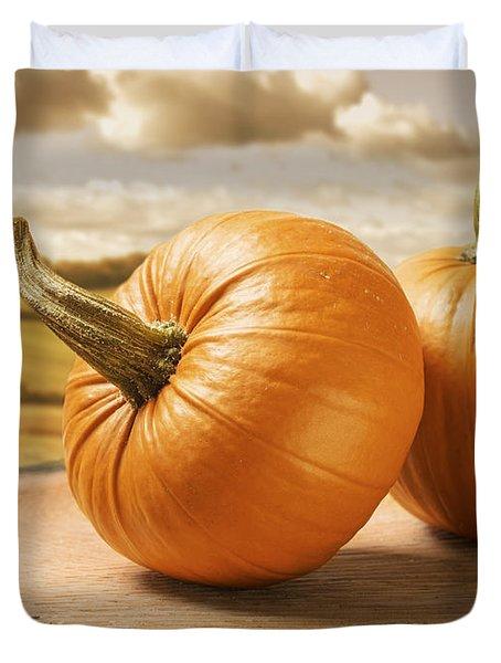 Pumpkins Duvet Cover by Amanda Elwell