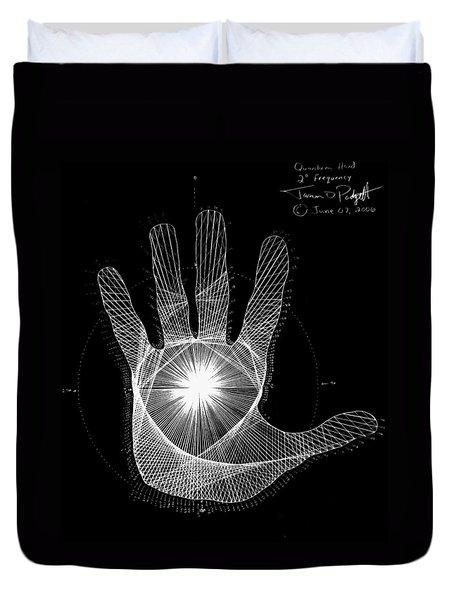 Quantum Hand Through My Eyes Duvet Cover