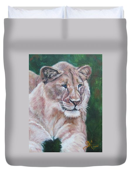 Queen Of The Beast,lioness Duvet Cover