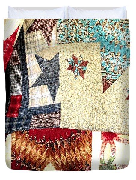 Duvet Cover featuring the photograph Quilts For Sale by Janette Boyd