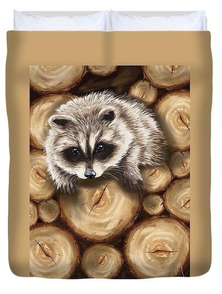 Raccoon Duvet Cover by Veronica Minozzi