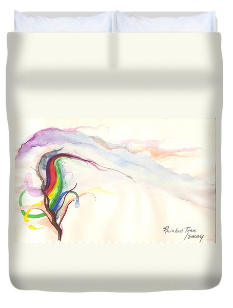 Rainbow Tree Duvet Cover by Rod Ismay