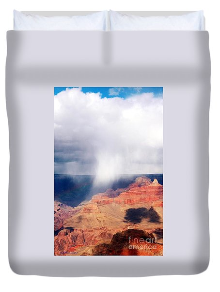 Raining In The Canyon Duvet Cover by Kathleen Struckle