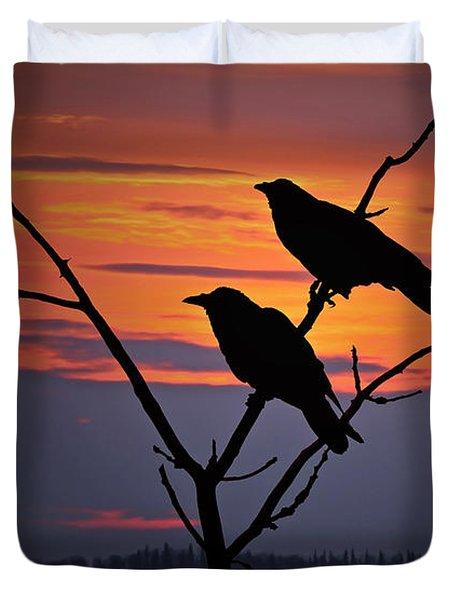 2 Ravens Duvet Cover